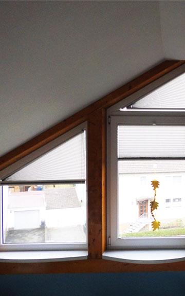 Plissee Rundfenster für sonderformen plissee nach maß fertigen lassen
